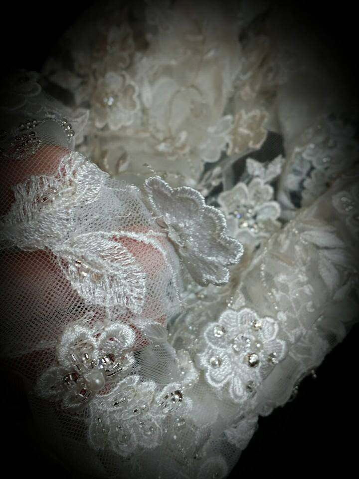 wedding gown hem